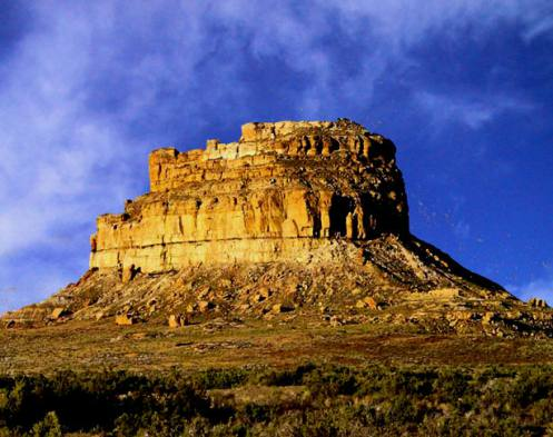 Fajada Butte in Chaco Canyon, New Mexico