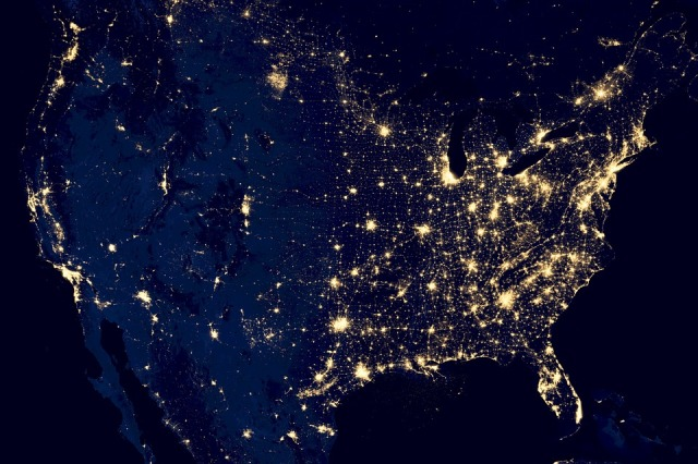 usa light pollution